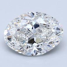2.01 Carat 椭圆形 Diamond 非常好 F VS1