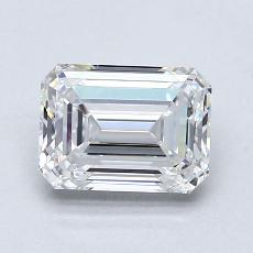 1.57-Carat Emerald Diamond Very Good D IF
