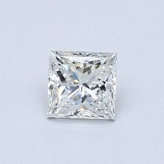 0.50-Carat Princess Diamond Very Good F IF
