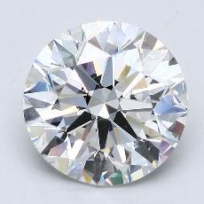 3,08-Carat Round Diamond Ideal F VVS2