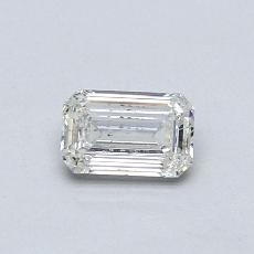 Pierre recommandée n°1: Diamant 0,43carat taille émeraude