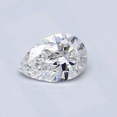Pierre recommandée n°3: Diamant taille poire 0,44carats