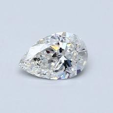 0.50-Carat Pear Diamond Very Good G SI2