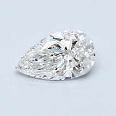 0.60-Carat Pear Diamond Very Good F SI1
