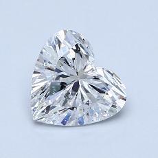 Pierre recommandée n°2: Diamant taille cœur 1,02carat