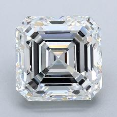 2,51-Carat Asscher Diamond Very Good F VS1