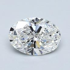 1.09-Carat Oval Diamond Very Good F IF