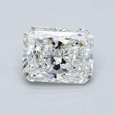 0,80-Carat Radiant Diamond Very Good F VVS1