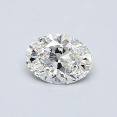 0.50-Carat Oval Diamond Very Good F VS2
