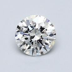0.85-Carat Round Diamond Ideal D VVS1