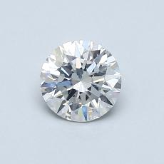 0.60-Carat Round Diamond Ideal F SI2