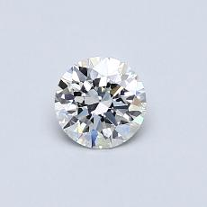 0.41-Carat Round Diamond Ideal F VVS1