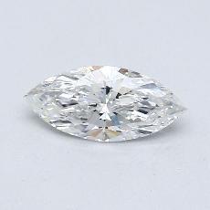 0,46 Carat Marquise Diamond Très bonne F SI1