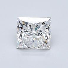 0.90-Carat Princess Diamond Very Good E VS1