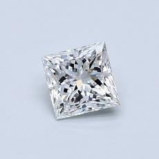 0.50-Carat Princess Diamond Very Good E SI1