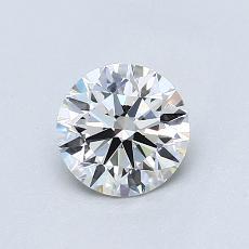 0,75-Carat Round Diamond Ideal H VS1