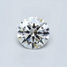 0.50-Carat Round Diamond Ideal E VVS1
