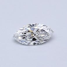 0.30-Carat Marquise Diamond Very Good D VVS1