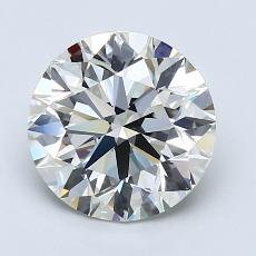 2.01-Carat Round Diamond Ideal I VS1