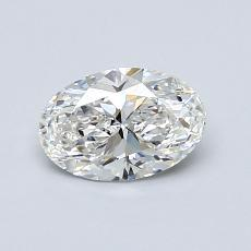 0.70-Carat Oval Diamond Very Good E VVS1