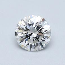 0.80 Carat 圓形 Diamond 理想 D VS1