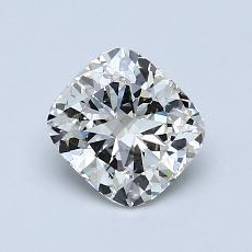 1.00-Carat Cushion Diamond Very Good J VVS2