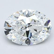 2.03 Carat 椭圆形 Diamond 非常好 D VVS2