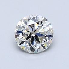 0.90 Carat 圆形 Diamond 非常好 I VS2