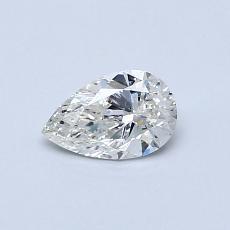 Piedra recomendada 2: Diamante en forma de pera de0.40 quilates