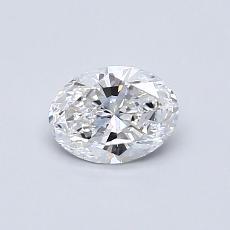 0.53-Carat Oval Diamond Very Good D VVS1