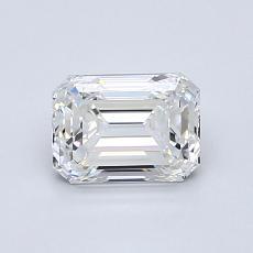 1.00-Carat Emerald Diamond Very Good F VVS1