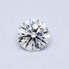 0.51-Carat Round Diamond ASTOR D VVS2