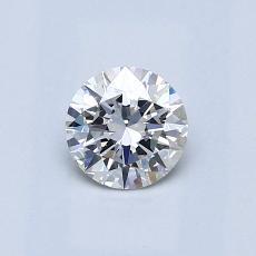 0.50 Carat 圓形 Diamond 理想 F VS2