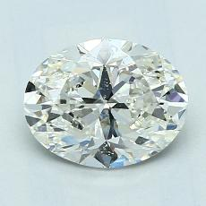 1.53-Carat Oval Diamond Very Good I SI1