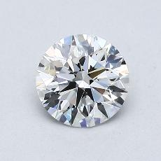 0,75-Carat Round Diamond Ideal E IF