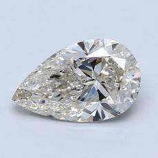 1.00-Carat Pear Diamond Very Good K SI2