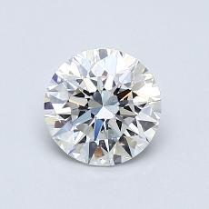 0.80 Carat 圓形 Diamond 理想 E VS2