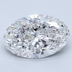 2.00-Carat Oval Diamond Very Good D SI2