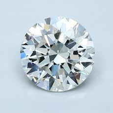1.30-Carat Round Diamond Ideal I VVS2