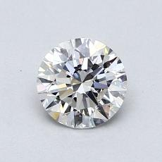 0.75-Carat Round Diamond Ideal H VVS1