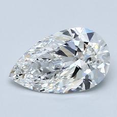 1.09 Carat 梨形 Diamond 非常好 F VS2