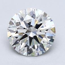 2.01 Carat 圆形 Diamond 理想 F VVS1