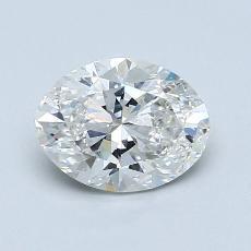1.08 Carat 椭圆形 Diamond 非常好 H SI1