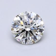 2.05-Carat Round Diamond Ideal H VVS1