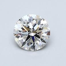 0.85-Carat Round Diamond Ideal I VVS2