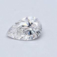 0,50-Carat Pear Diamond Very Good D IF