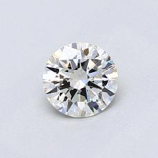 0,50 Carat Rond Diamond Idéale I VVS2