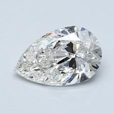 1.00-Carat Pear Diamond Very Good G VS1