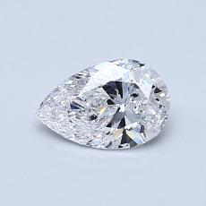 推薦鑽石 #1: 0.53 克拉梨形鑽石