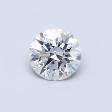 0.50 Carat 圆形 Diamond 理想 F SI2